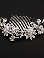 Women's Platinum Headpiece-Wedding Special Occasion Hair Combs Flowers