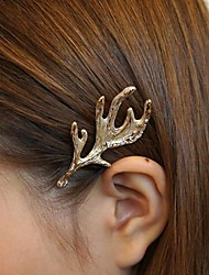 Christmas Fashion Jewelry Gold Hairpins Hair Jewelry Head Jewelry Moose Horn