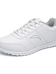 Men's Walking Shoes Leatherette Black/White/Gray