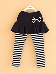 Girl's Striped Leggings,Cotton Spring / Fall Blue / Pink / Gray