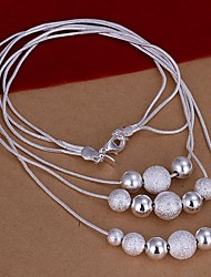 Women's Sterling Silver Necklace Party/Daily