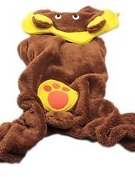 Dog Hoodie Brown Dog Clothes Winter Animal / Cartoon Cosplay