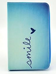 sourire de motif de coeur de cas complète du corps avec support pour Samsung Galaxy Tab 3 Lite T110