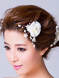 Imitation Pearl Fabric Headpiece-Wedding Special Occasion Flowers Hair Pin