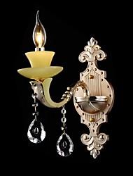 Modern Crystal Wall Lamp One Light Zinc Alloy Jade-like Resin and Crystal 220~240V