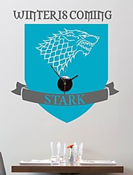 Wall Stickers Wall Decals,  Modern The Stark family logo clock Game of Thrones PVC Wall Stickers