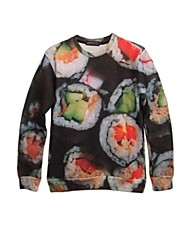 camisetas de algodón de impresión 3D de sushi japonés de la mujer pinkqueen®