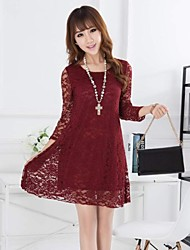 Women's O Neck Half Sleeve Lace Dress(More Colors)