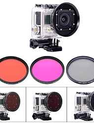 Accessories For GoPro Dive Filter / Waterproof Housing / Accessory Kit / Lens Filter Waterproof, For-Action Camera,Gopro Hero 3Diving &