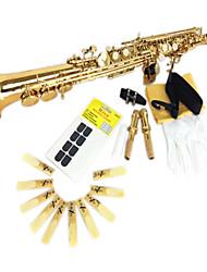peinture or b saxophone soprano (haute sax droite)