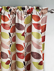 Philips Young - Two Panels Contemporary Classic Multi Color Leaves Curtains Drapes