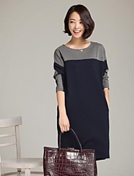 Women's Plus Size Contrast Color Dress