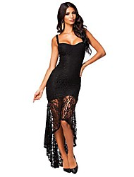 Women's Flower Lace Net Sexy Dress