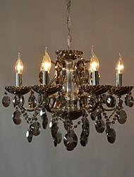 luxo de seis chefes de família lustre de cristal