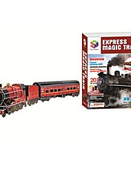 Deluxe Edition Super Big 83cm Trains Model 3D Puzzle Educational Toys with 201pcs Assembly