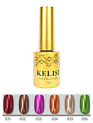 1pcs kelisi professionelle Metall UV Farbgel no.31-36 (12ml, Farbe sortiert)