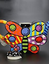QIANDU Butterfly Shape Teapot, Coffepot As Gift, Painting Porcelain