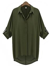 Women's Chiffon Loose Long Sleeved Blouse