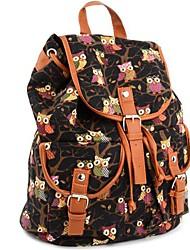 Women's Canvas Backpack Shoulder Bag Students Schoolbag Book Bag
