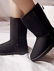 Hobo Frauen Casual warmen verdicken flachem Absatz Schneeschuhe schwarz