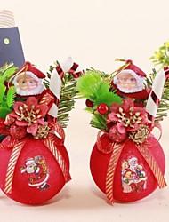 Christmas Tree Ornaments  Pompon Standing Santa Claus  (Style Random)
