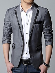 Men's Long Sleeve Regular Blazer , Cotton Blend/Polyester Pure