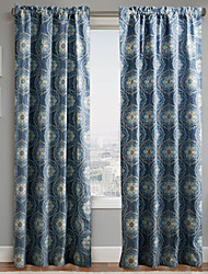 One Panel Curtain Designer , Flower Living Room Polyester Material Curtains Drapes Home Decoration For Window