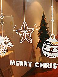 "merry christmas toys Fenster Neuheit Aufkleber (18.48 ""w × 12.6"" l)"