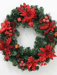 60Cm Red Christmas Wreath