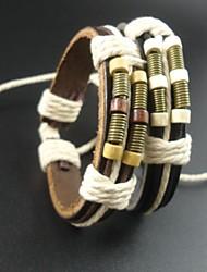 bracelet des hommes en cuir de corde de chanvre de mode