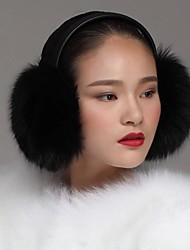 unisex autentici volpe nera paraorecchie pelliccia earwarmers