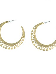 Pattern C Hoop Earrings