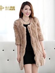 Women Rex Rabbit Fur Outerwear/Top , Belt Not Included