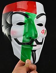 v coloré populaire pour vendetta masque en plastique pour halloween