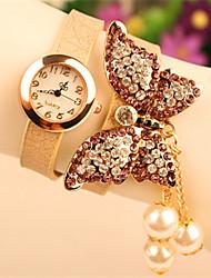 POPPY Women's Elegant Imitation Diamond&Pearl Bracelet Watch