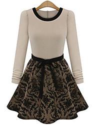 rlk ol tocar fondo vestido de flores 9301 negro, crema, almendras