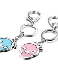 1 Pair Halloween Candy Color Skull or Duck Zinc Alloy Couple Keychain (First 10 Customers With Box Added)
