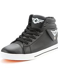 Men's Spring / Summer / Fall / Winter Round Toe Nylon Casual Flat Heel Black / White Sneaker
