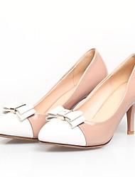 chaussures pour femmes pompes pointu orteil stylet cuir du talon des chaussures plus de couleurs disponibles