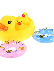 maman et bébé canards famille avec deux natation jouets de bain de bague