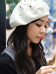 moda feminina tudo combinando chapéu boina vindima