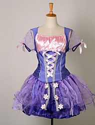 Beautiful Long Hair Princess Purple Chiffon & Terylene Halloween Costume
