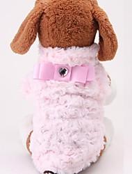 Pet Fashion rose chiffon doux sieste bowknot amour pull pour animaux chiens (grandeurs assorties)