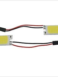 Белая лампа для интерьера автомобиля, Carking ™ T10 / BA9S / фестон, 28mm ~ 40mm 2.5W 18-COB LED (2 шт.)