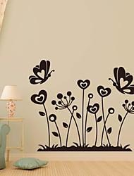 stickers muraux stickers muraux, famille fleur papillon décoration pvc stickers muraux