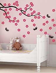JiuBai® Cartoon Flower Tree And Butterfly Wall Sticker Wall Decal