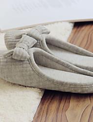 scarpe da donna punta rotonda ciabatte tacco piatto scarpe in pile