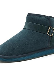 Men's Shoes Casual Suede Boots Black/Brown/Green