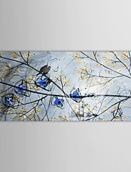 Hand Painted Oil Painting Landscape Birds Singing in the Tree with Stretched Frame