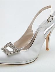 Feminino Wedding Shoes Saltos/Bico Fino Sandálias/Saltos Casamento/Festas & Noite Preto/Azul/Rosa/Roxo/Marfim/Branco/Prateado